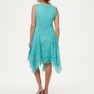 Isaac Mizrahi Dresses - Isaac Mizrahi Handkerchief Hem Lace Midi Dress